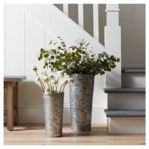 🎉Hearth & Hand Magnolia Galvanized Metal Vase